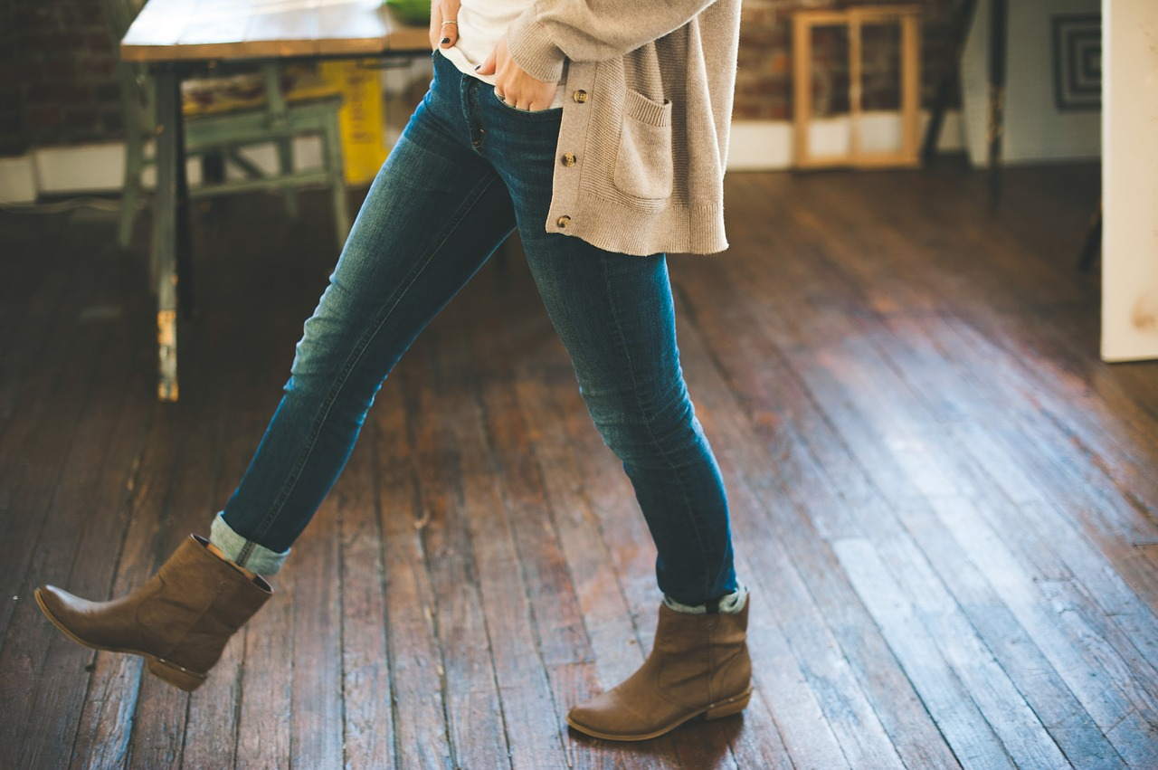 Wearing outdoor shoes indoors on hardwood brings in grit and grime, and will shorten the life of hardwood floors.