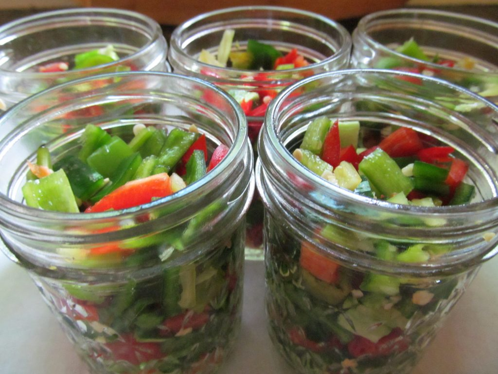 Hot Peppers in Jars for Canning Pickled Peppers