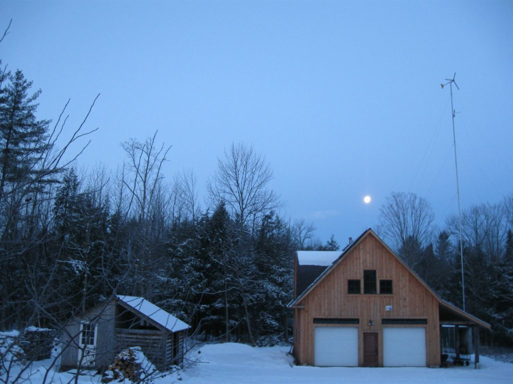 Jan. Full Moon at Off Grid Homestead