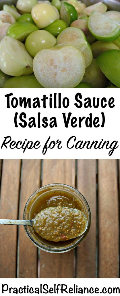 Tomatillo Sauce Recipe for Canning (Salsa Verde)