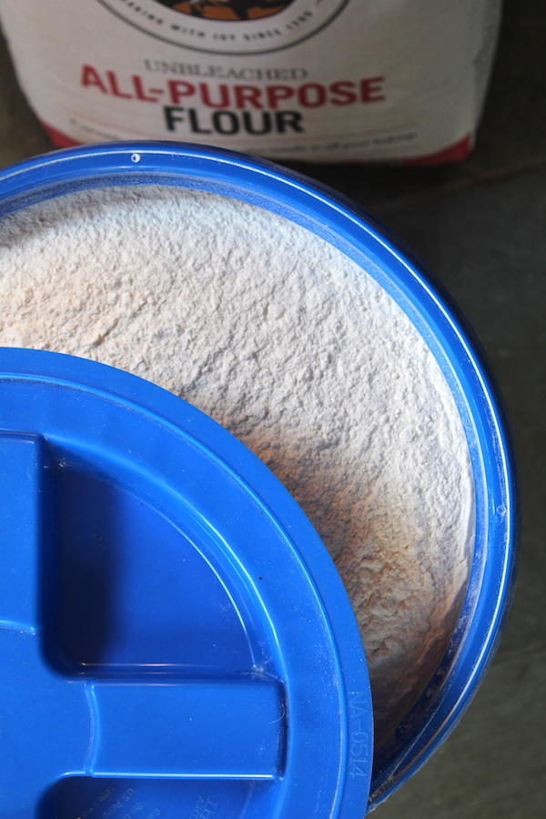 Bulk Flour Long Term Storage in Gamma Seal Bucket