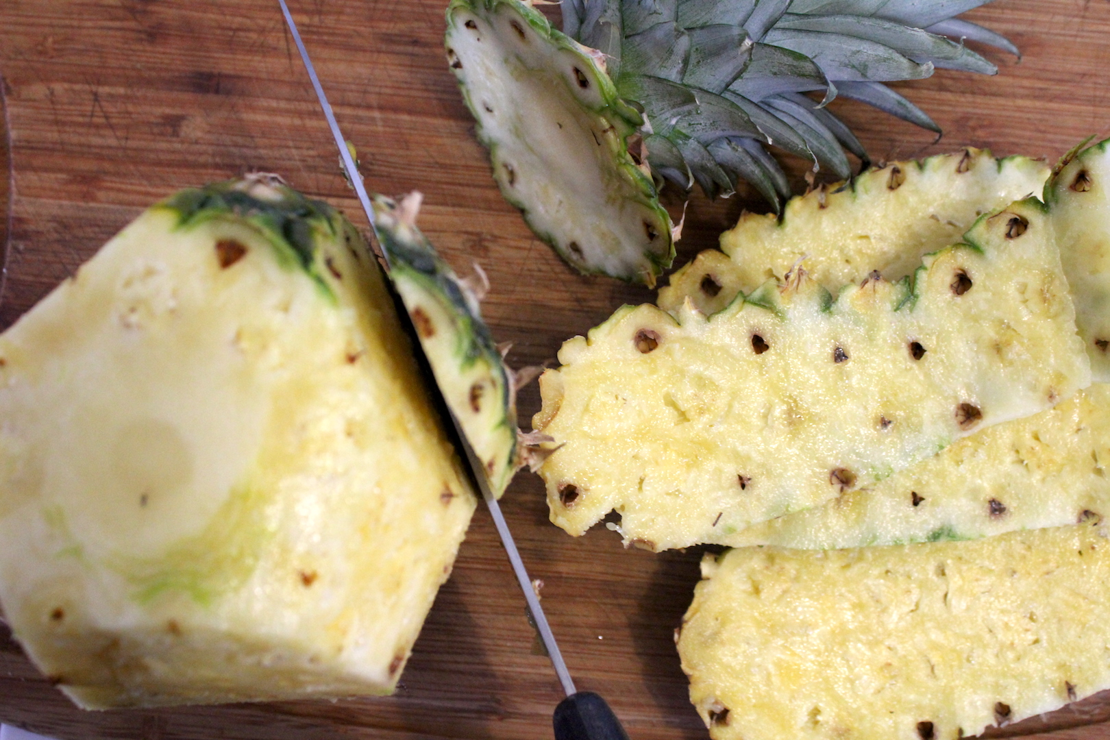 Peeling Pineapple for Canning