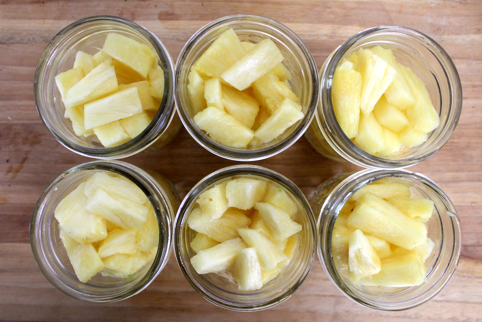 Pineapple in Canning Jars