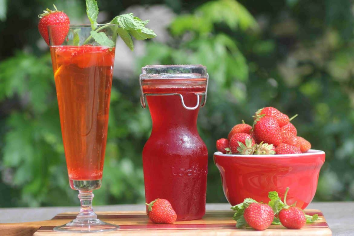 Strawberry Syrup for canning