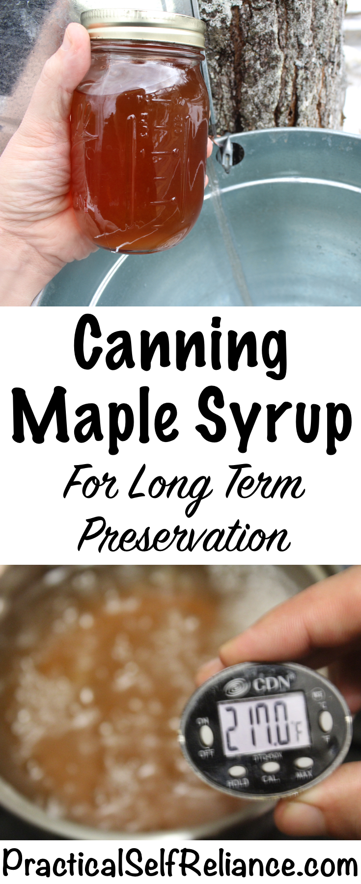 Canning Maple Syrup for Long Term Preservation