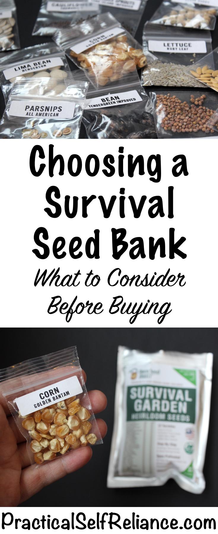 Choosing a Survival Seed Bank