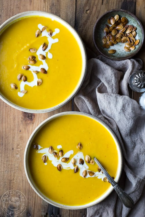 Pressure Cooker Pumpkin Soup from Gluten Free Pressure Cooker