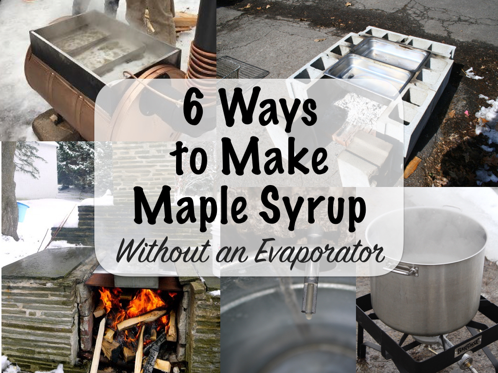 Ways to Make Maple Syrup Without an Evaporator - 6 Ways To Make Maple Syrup Without An Evaporator — Practical Self