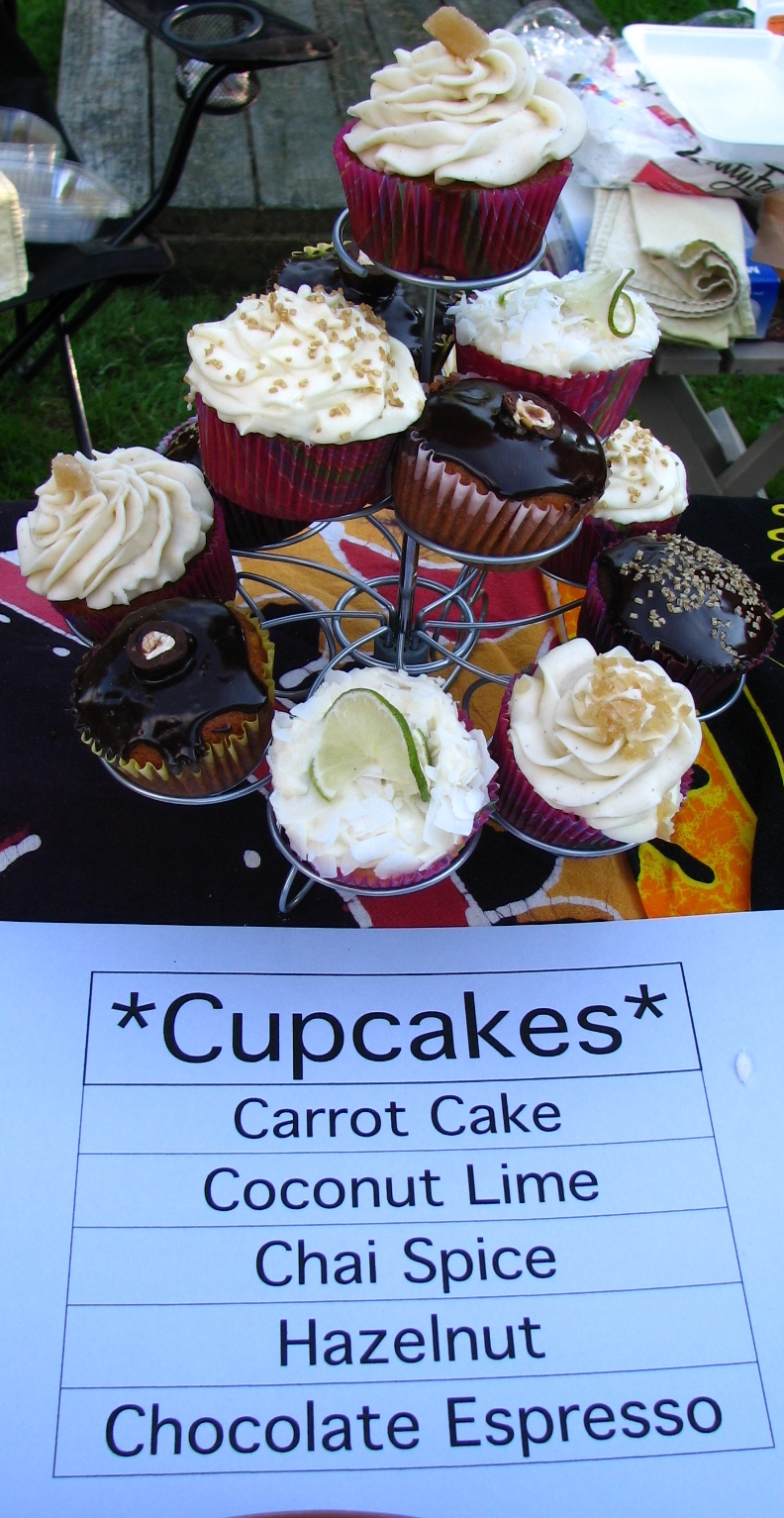 Cupcakes for sale at farmers market
