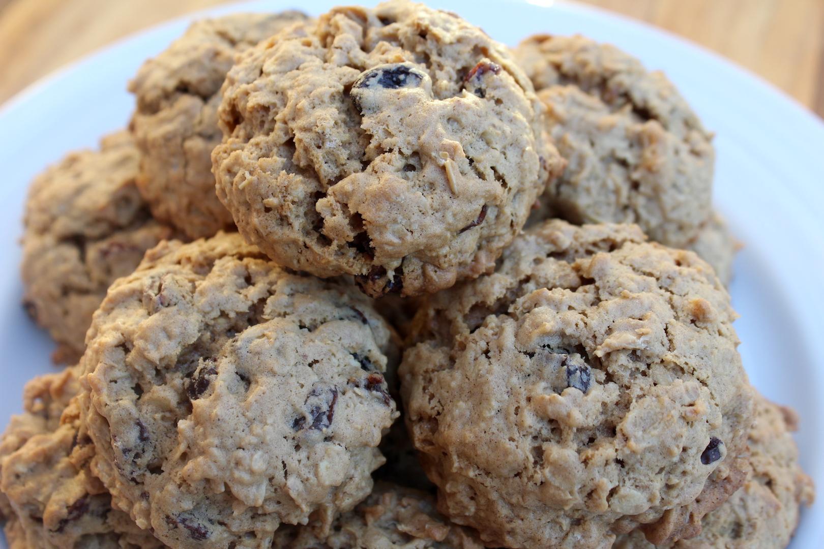 Einkorn Oatmeal Raisin Cookies Recipe