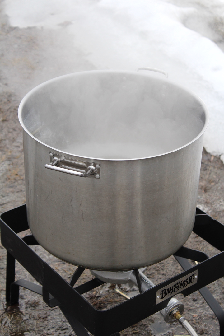 Making Maple Syrup on a Propane Burner