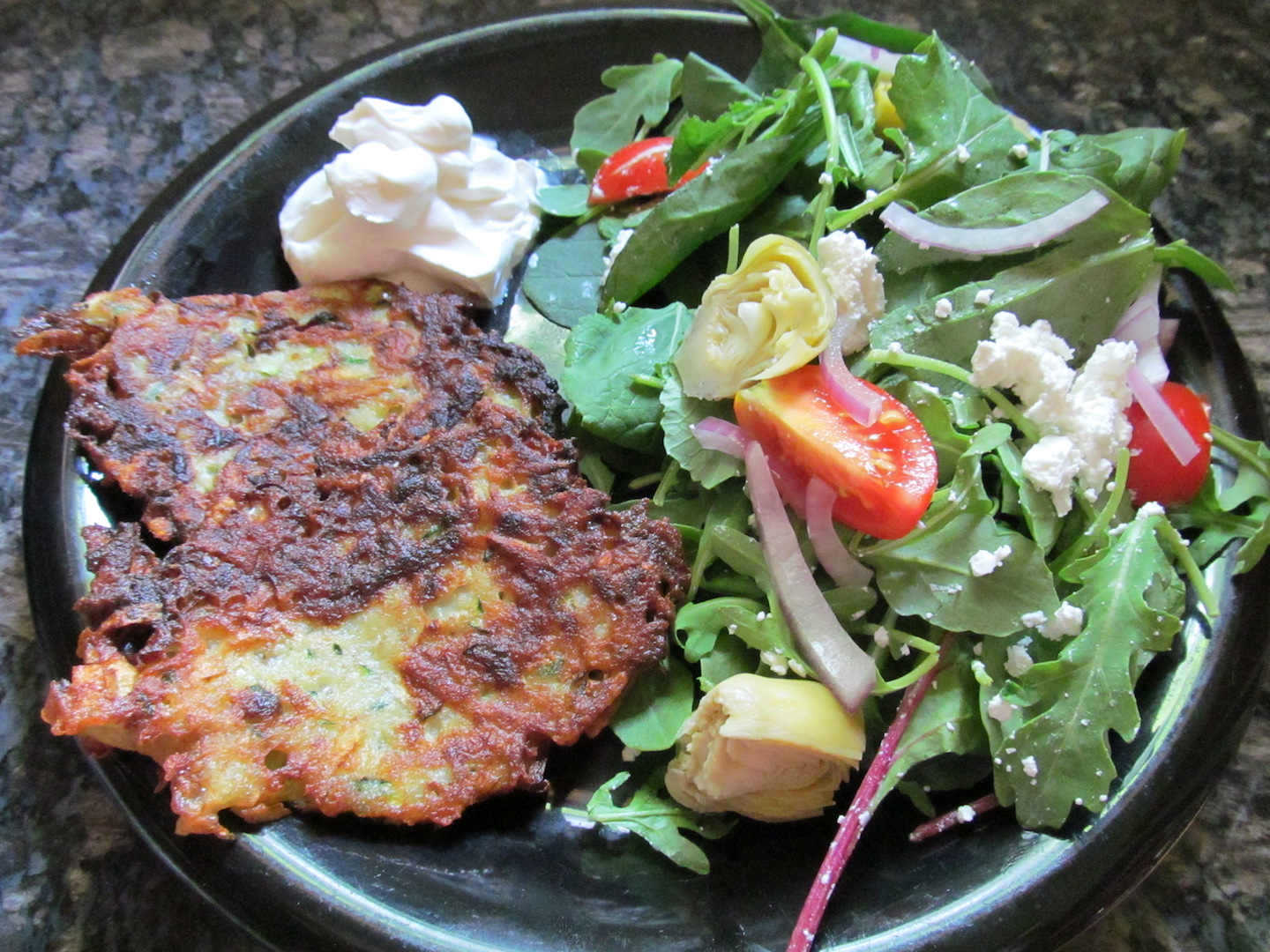 Zucchini Latkes from Practical Self-Reliance; photo used with permission.