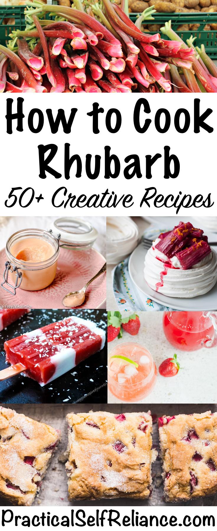 How to Cook Rhubarb ~ 50+ Creative Rhubarb Recipes ~ Sweet and Savory Rhubarb Recipes