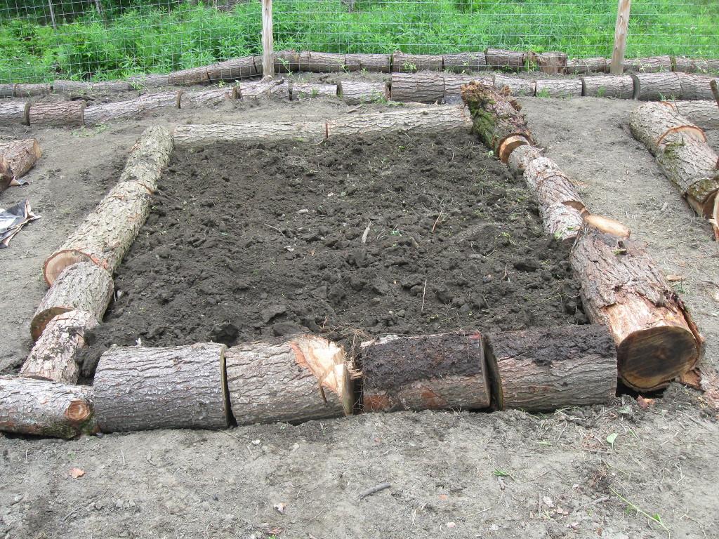 Cordwood Raised Beds
