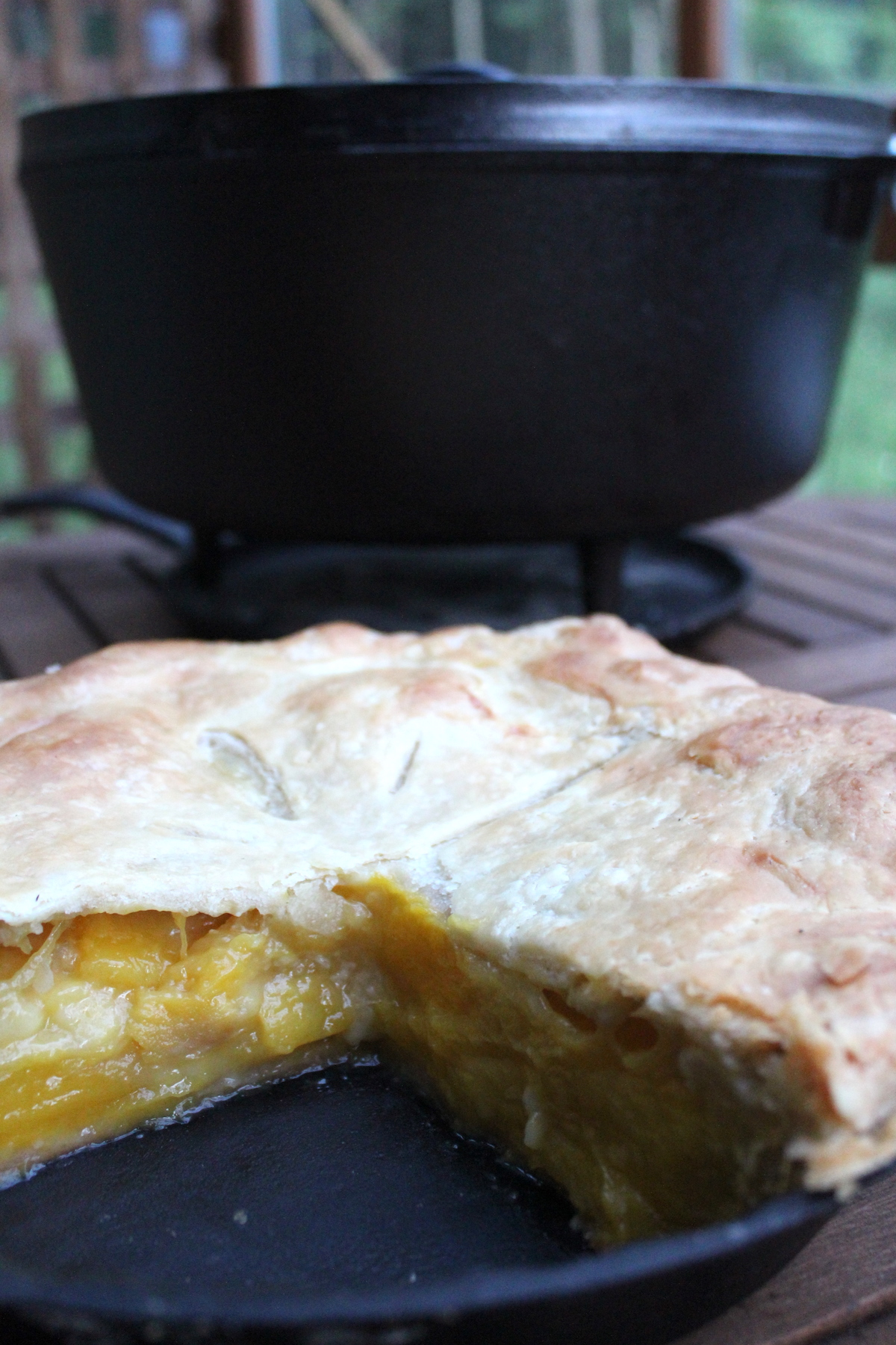 Baking a Pie in a Dutch Oven