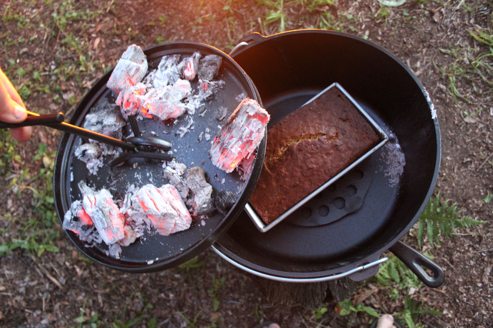 Campfire Baking in a Dutch Oven