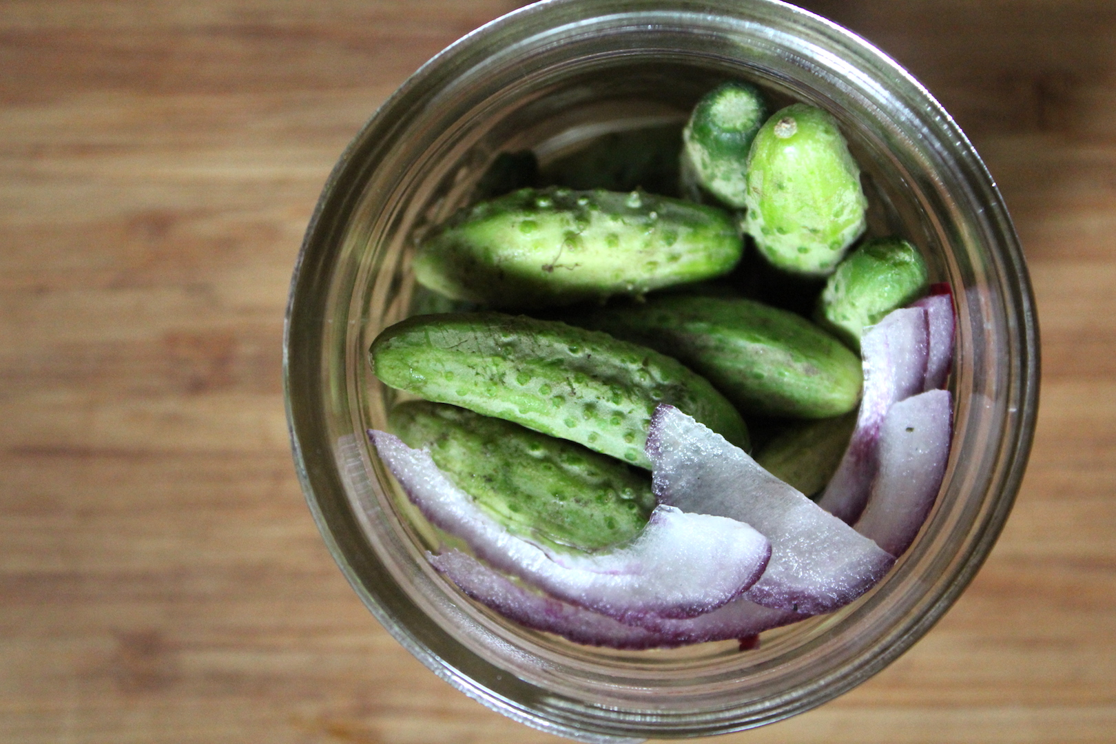 Packing Gherkins into Jars