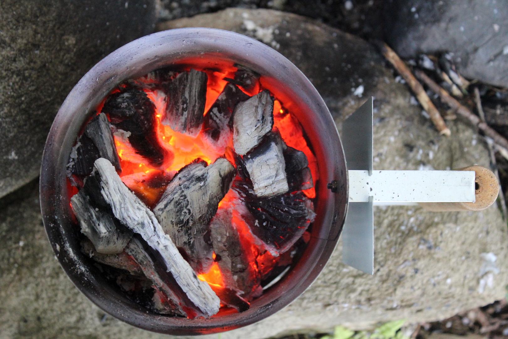 Preparing Coals for Dutch Oven