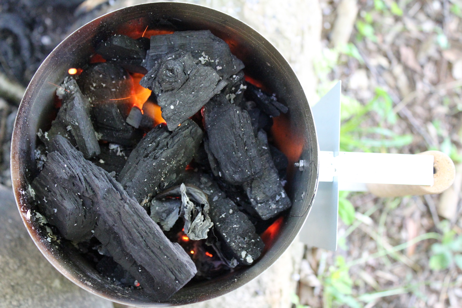 Starting Coals for Dutch Oven