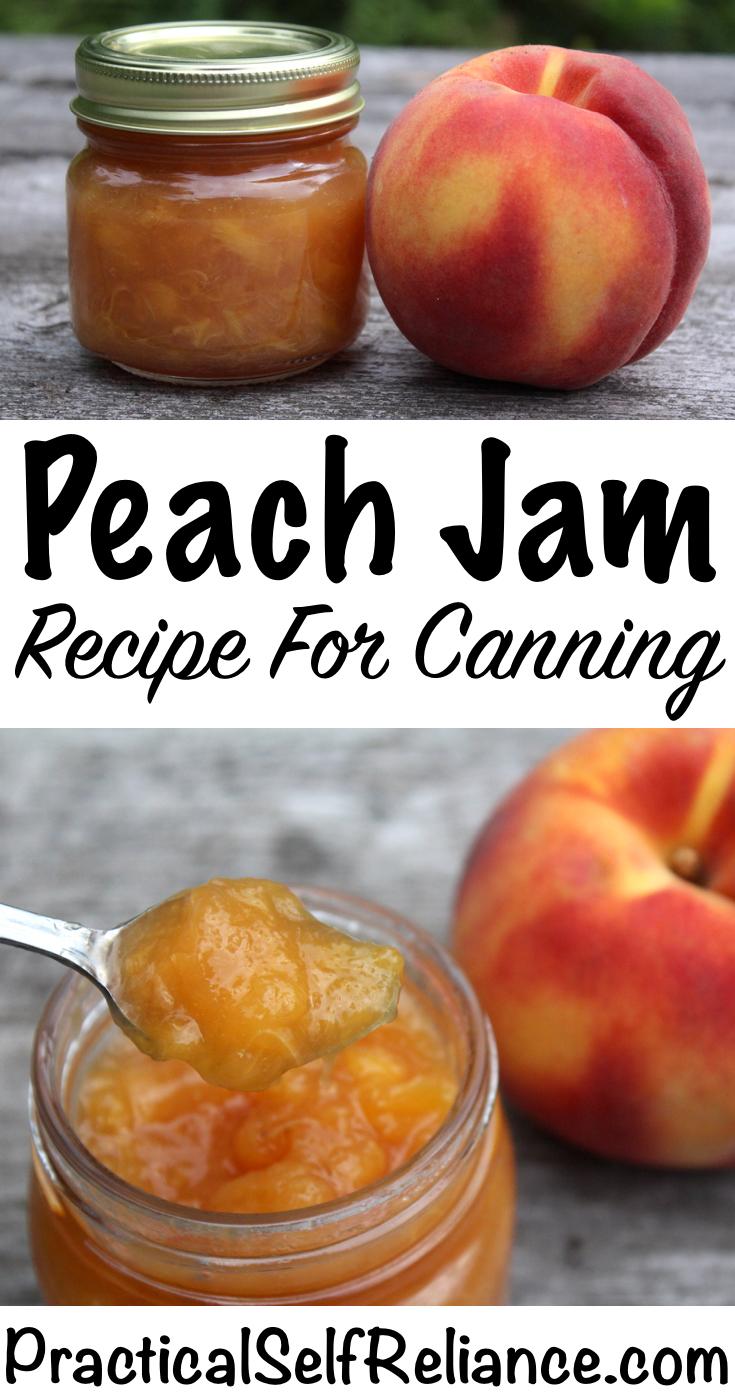 Peach Jam Recipe for Canning ~ Canning Peach Jam