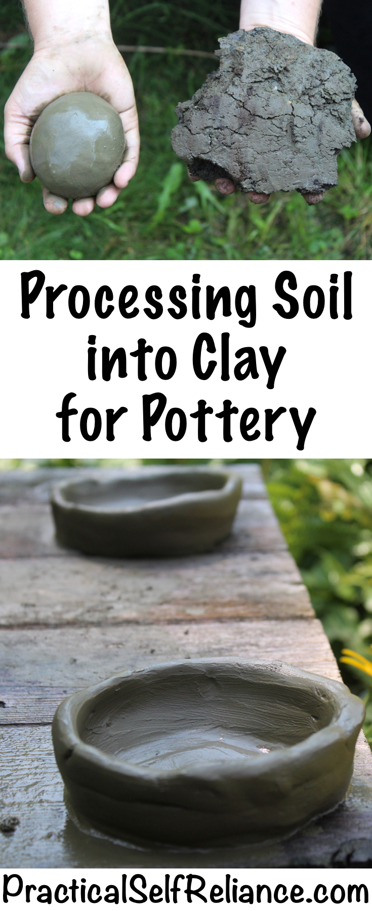 Make clay with dirt