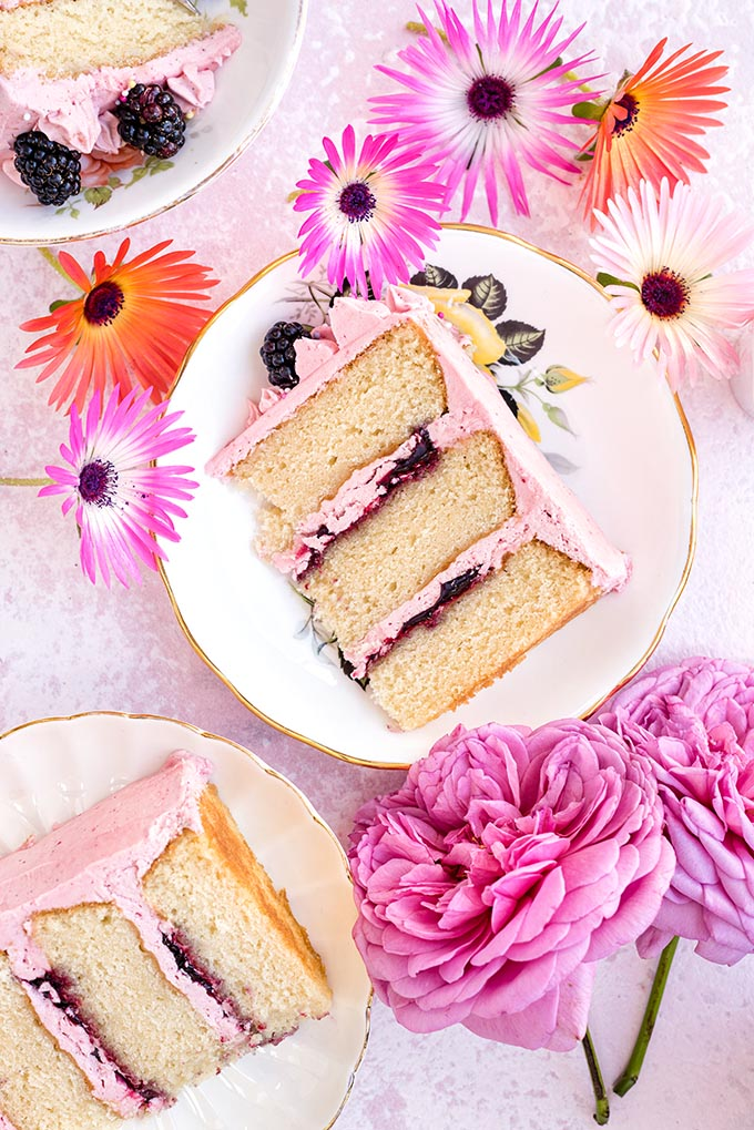 Vanilla Layer Cake with Blackberry Jam from Super Golden Bakes