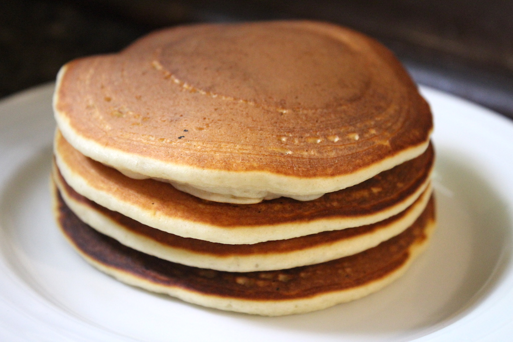 Pancakes from Just add water mix (Just add water pancakes)