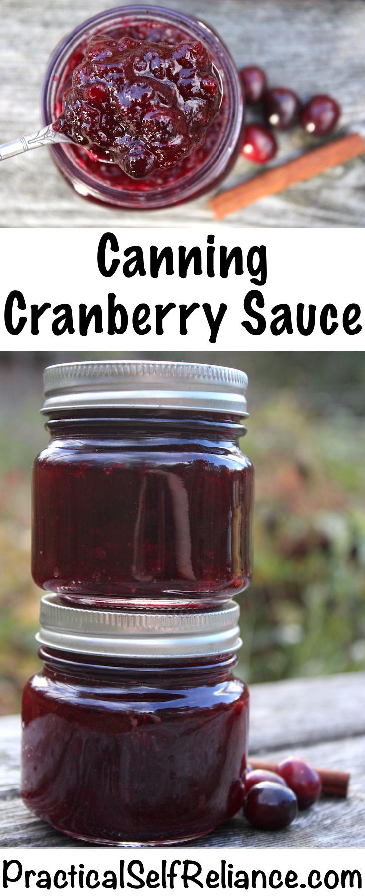 Canning Cranberry Sauce