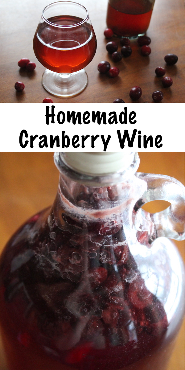 Homemade Cranberry Wine ~ Making your own cranberry wine is easy, using either fresh cranberries or cranberry juice
