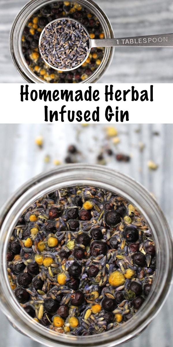 Homemade Herbal Infused Gin