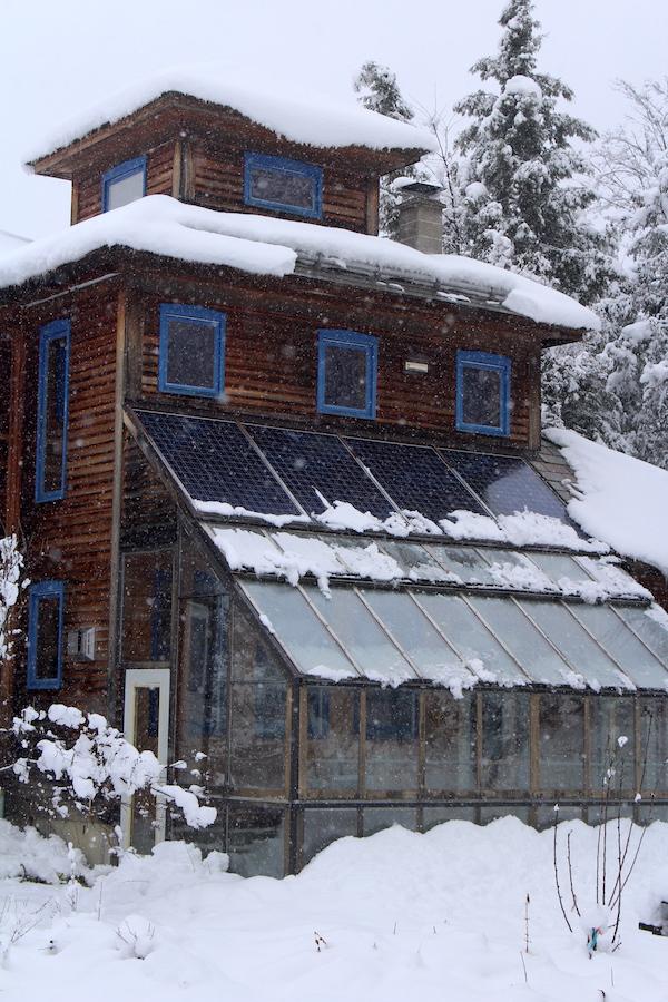 Ice Breaker Bar above solar panels