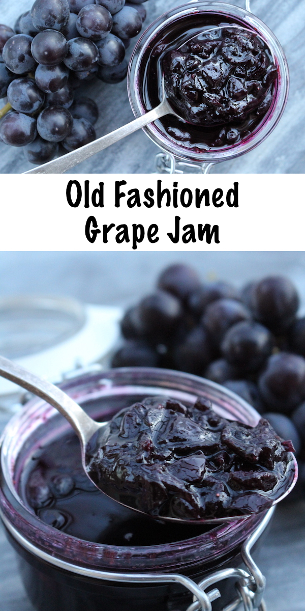 Old Fashioned Grape Jam Recipe ~ Grape Jam Recipe with No Added Pectin ~ Concord Grape Jam or any other grape variety