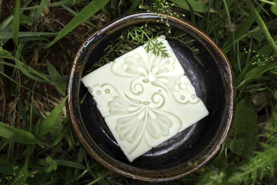 Homemade Yarrow and Witch Hazel Soap