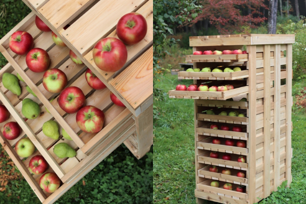 DIY Apple Storage Rack