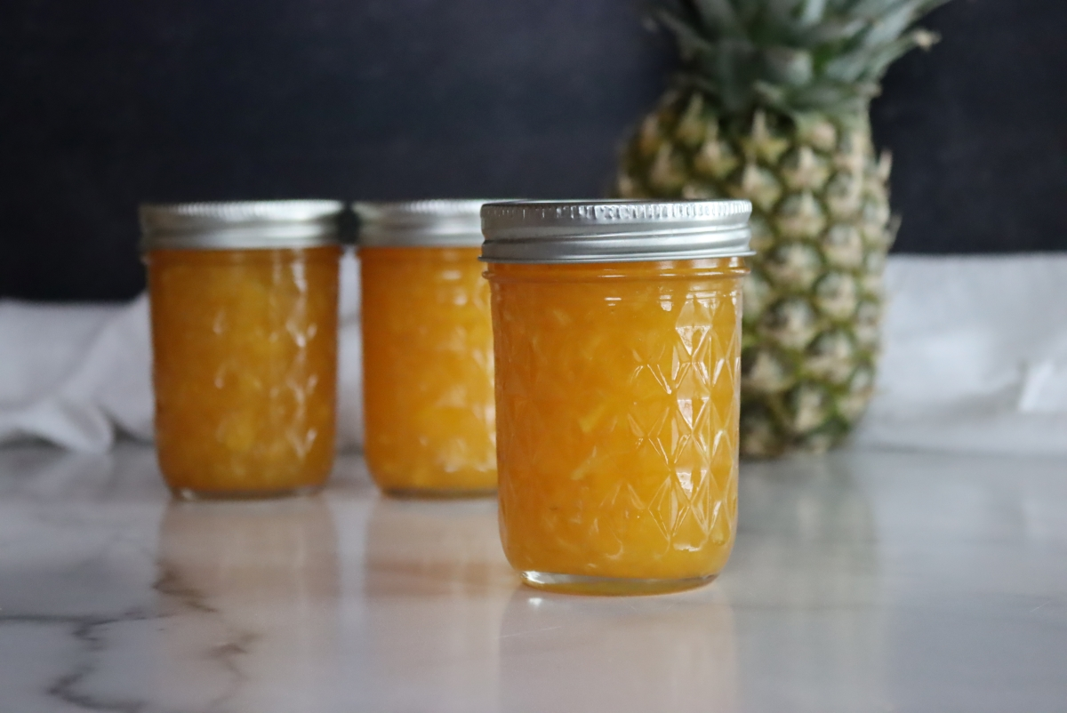 Pineapple Jam (With or Without Pectin)